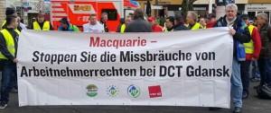 Solidarität mit den Kollegen im DCT Gdansk
